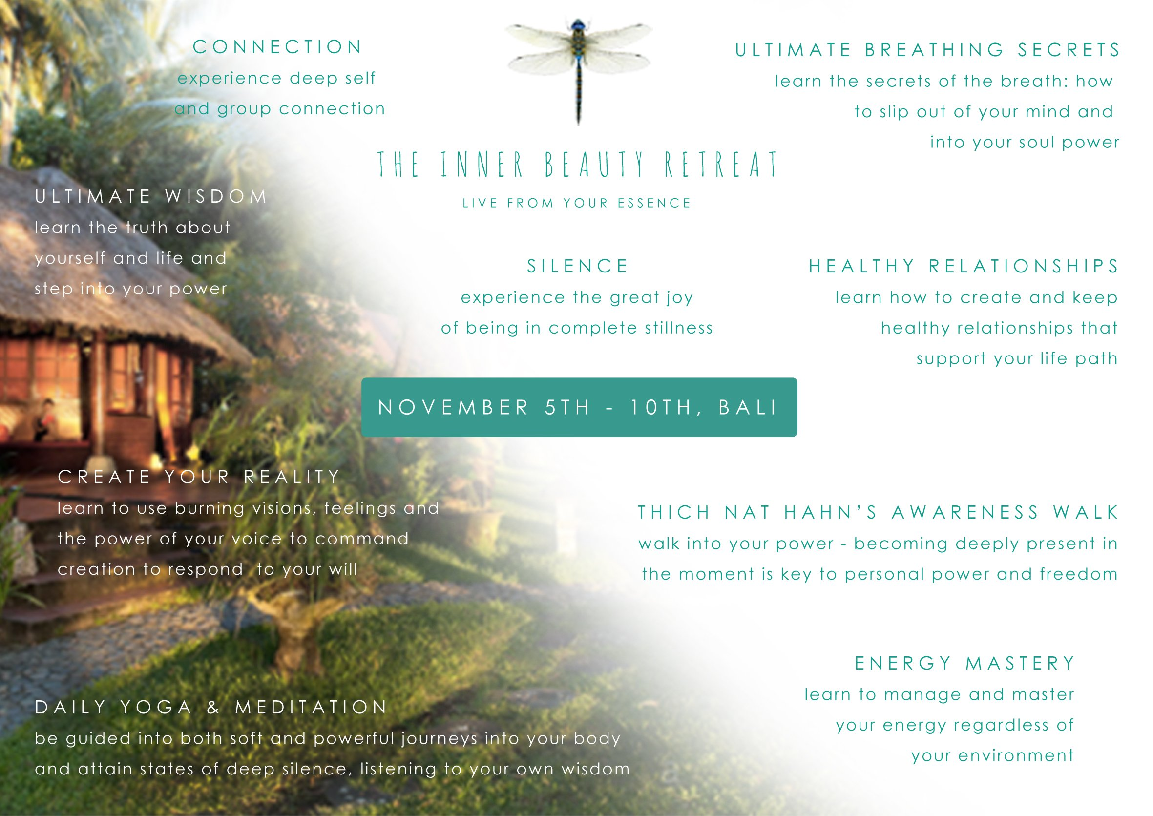 Inner Beauty Retreat BALI Nov 5th - 10th