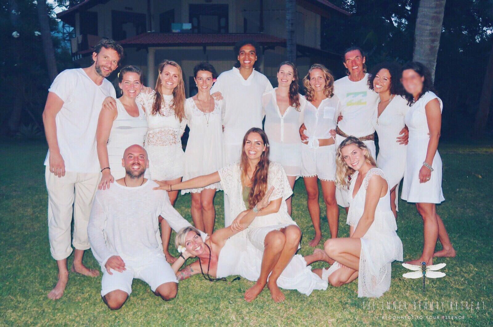 Bali Yoga Inner Beauty retreat group after meditation week
