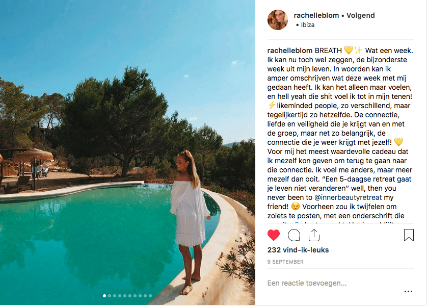 yoga meditation retreat ibiza detox inner beauty retreat lifechanging testimonial instagram